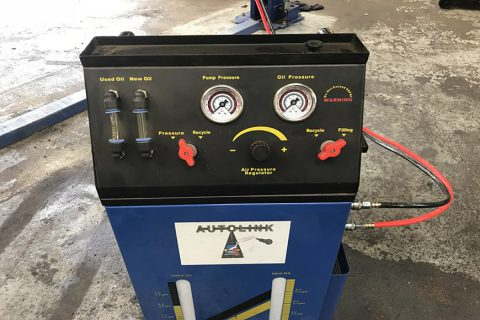 Gearbox Flushing Equipment at CCM Garages