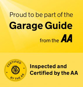 AA Garage Guide banner - CCM certified by AA