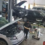 Range Rover With Bonnet Open Being Repaired by CCM Garages